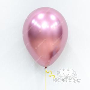 """Гелиевые шары """"Розовый хром"""""""
