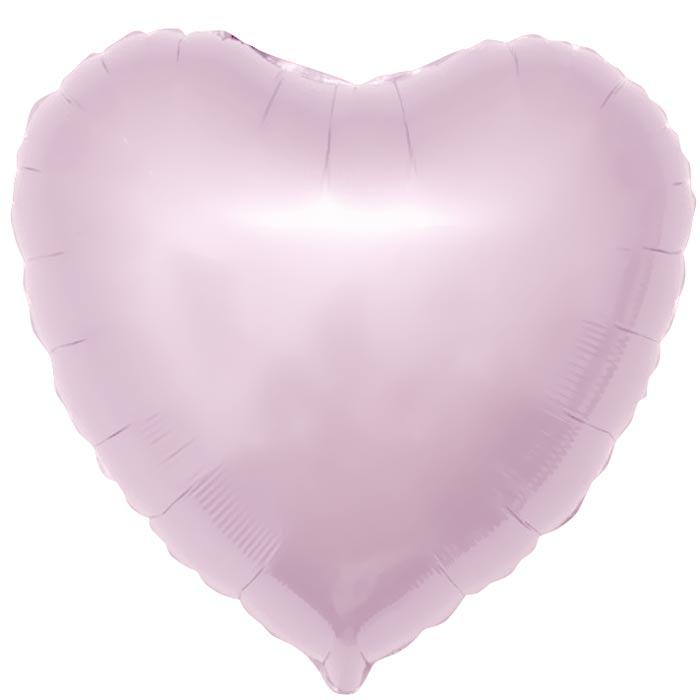 Сердце фольгированное светло-розовое 40 см