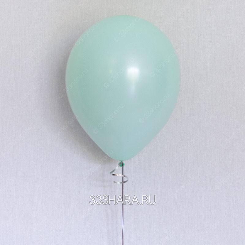 Гелиевый шар пастель светло-зеленый