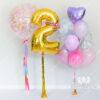 """Набор шаров """"Танец бабочек"""" с цифрой и большим шаром"""