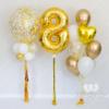 """Набор шаров """"Золотая нить"""" с цифрой и большим шаром"""