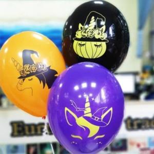 """Гелиевые шары """"Хеллоуин единорог"""""""