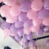Сиренево-розовые шары под потолок