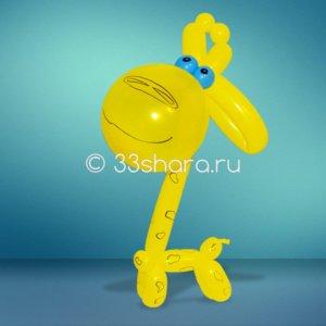 2-19 Жирафик из воздушных шаров