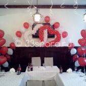 Украшение годовщины свадьбы — ресторан гостиницы «Владимир»