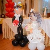 Украшение свадьбы — пакет «Лайт» +фигурки жениха и невесты