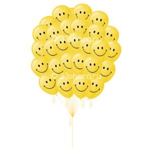 Облако-смайликов-из-30-шаров