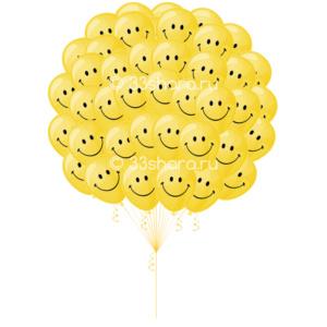 Облако-смайликов-из-50-шаров