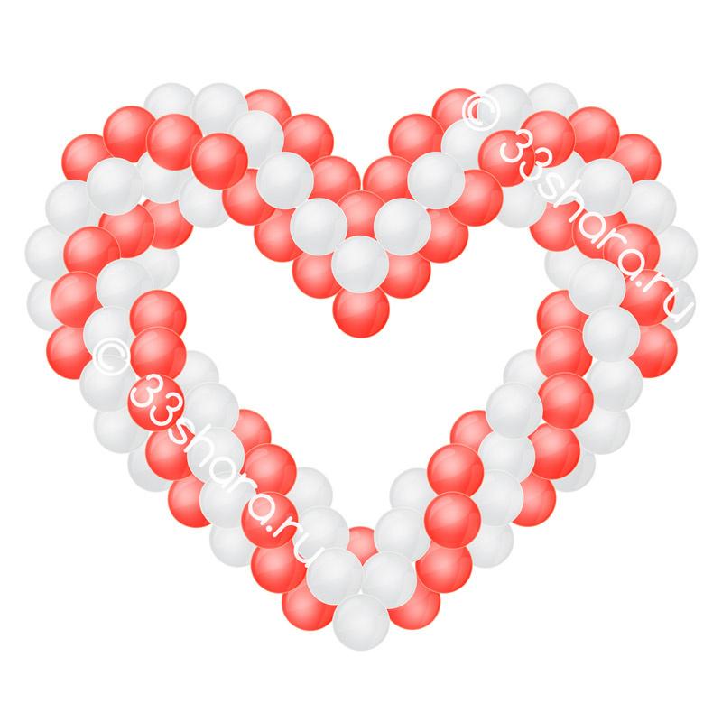 Сердце из воздушных шаров во Владимире