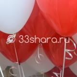12′ красный/белый пастель