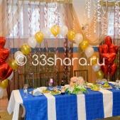 Украшение свадебного зала шарами — пакет «Лайт»