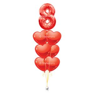 Фонтан-с-цифрой-8-и-6-сердец