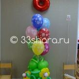 Украшение детского садика на 8 Марта — фонтан из шаров