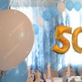 Оформление юбилея воздушными шарами