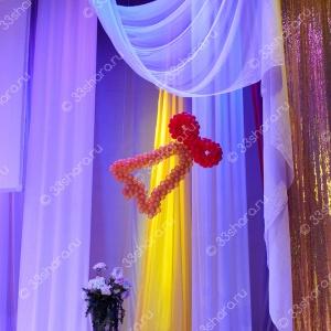Колокольчик из шаров - оформление последнего звонка