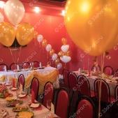 Оформление свадебного зала кафе «Комета»