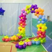 Цветочная арка из воздушных шаров
