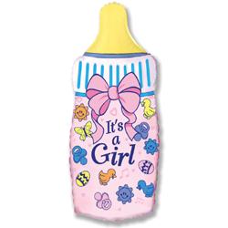 901645 Бутылочка для девочки с гелием