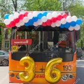 Оформление троллейбусов во Владимире на последний звонок