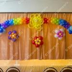 Выпускной в детском саду – солнышко, радуга, и цветы на стену