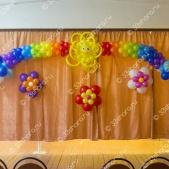 Выпускной в детском саду — солнышко, радуга, и цветы на стену