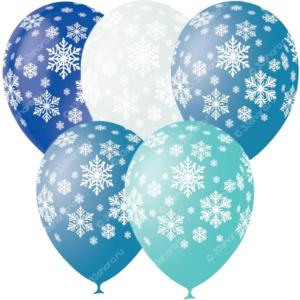 4-26 Гелиевые шарики со снежинками