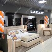 Колонны из шаров — салон LAZURIT