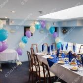 Арка и фонтаны из шаров — кафе «Гавань»