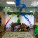Арка, цветы и шары под потолок – оформление шарами праздника в детском садике во Владимире