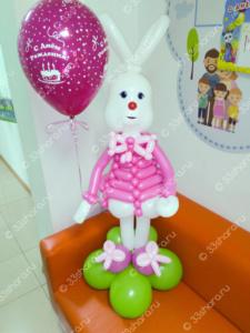 Фигурка зайчика с гелиевым шариком