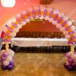 Оформление зала на юбилей – арка
