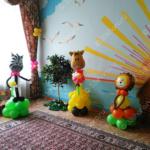 Подарок для детишек из дома малютки – животные из шариков