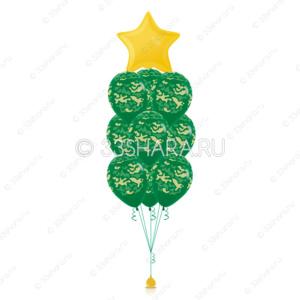 7-17 Фонтан из камуфляжных шаров
