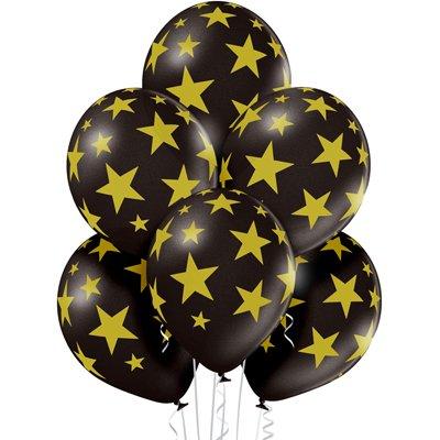 4-57 Черные шары с золотыми звездами