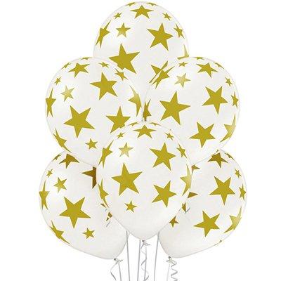 4-58 Белые шары с золотыми звездами