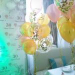 Украшение фотозоны во Владимире – фонтаны из шаров с конфетти