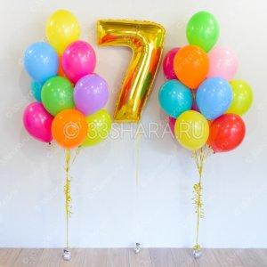 """10-16 Набор шаров """"Яркие краски"""""""
