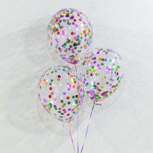 """Шары с конфетти """"Разноцветные монетки"""""""